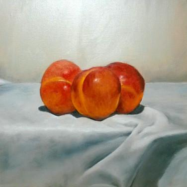 Pluots, 2015. Oil on canvas, 10x10