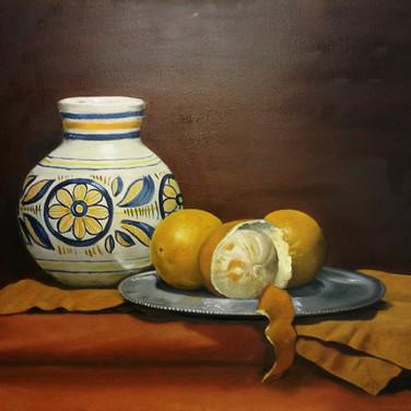 Las Naranjes, 2015. Oil on canvas, 18x24