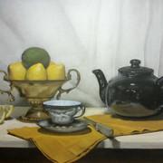 Tea Time, 2015. Oil on canvas, 18x24