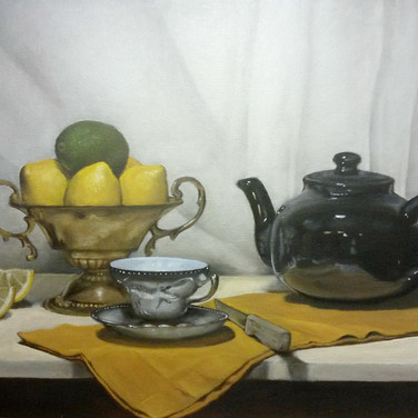 Tea Time, 2015. Oil on canvas, 18x24