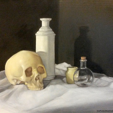 Momento Mori 1, 2015. Oil on canvas, 18x24