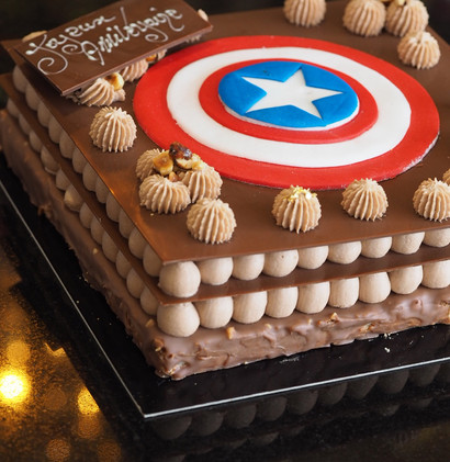 Un gâteau de Super Héros