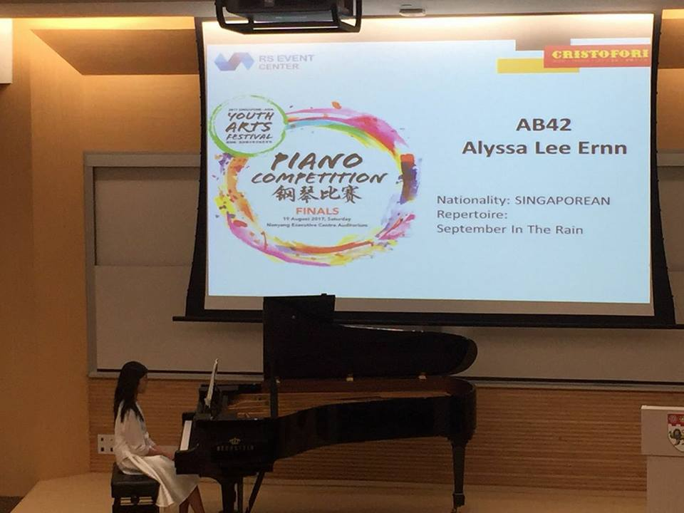 piano competition (represent SG)