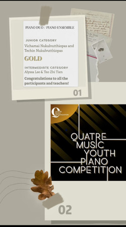 Our Students Won Gold in Duet Catogeries