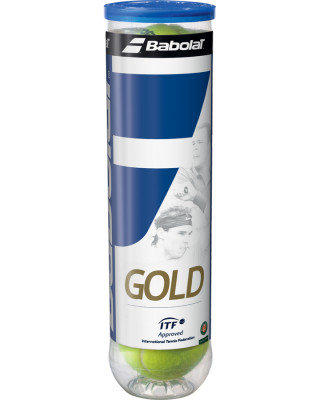 4 Babolat Gold Tennis Balls for Adults