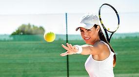 playing tennis waiting tennis ball_edite