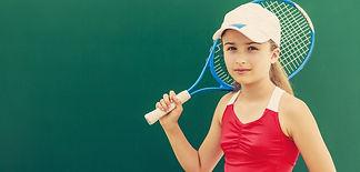 Tennis - beautiful young girl tennis pla