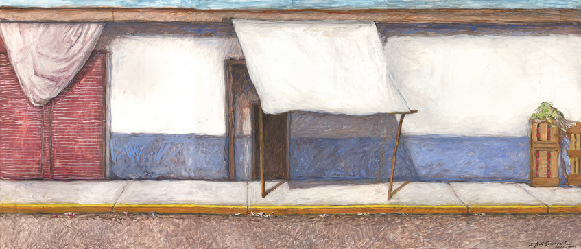 Banqueta en Azul y Blanco Triptych #25