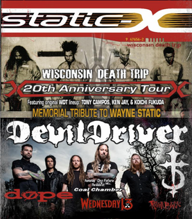 STATIC-X & DEVILDRIVER set out on Wisconsin Death Trip 20th Anniversary Tour with Wednesday 13,