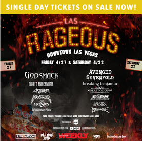 LAS RAGEOUS Announce Set Times and Single Day Tickets On Sale Now!