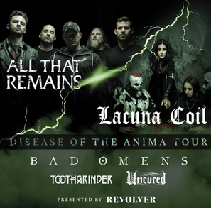 """LACUNA COIL RELEASE FIRST SINGLE AND VIDEO """"LAYERS OF TIME"""" FROM NEW ALBUM 'BLACK ANIM"""