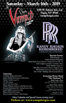 Randy Rhoads Remembered Returns to Las Vegas and Count's Vamp'd