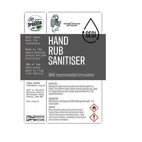80% alcohol hand rub sanitiser by SESI
