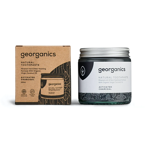 """Natural toothpaste: """"Activated charcoal"""" by Georganics"""
