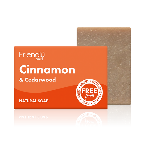 "Soap bar for face & body: ""Cinnamon & Cedarwood"" by Friendly Soap"