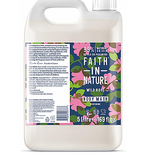 "Body wash: ""Wild rose"" by Faith in Nature"
