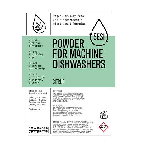 "Dishwasher powder: ""Citrus"" by SESI"