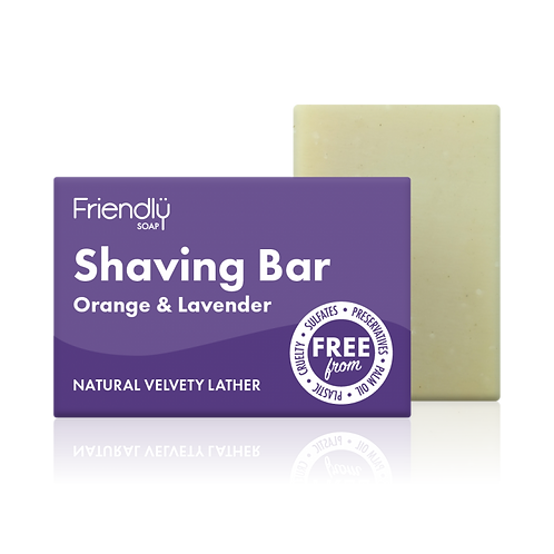 "Shaving soap: ""Orange & lavender"" by Friendly Soap"