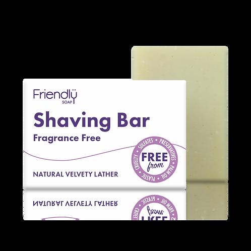 Shaving soap: Fragrance free, by Friendly Soap