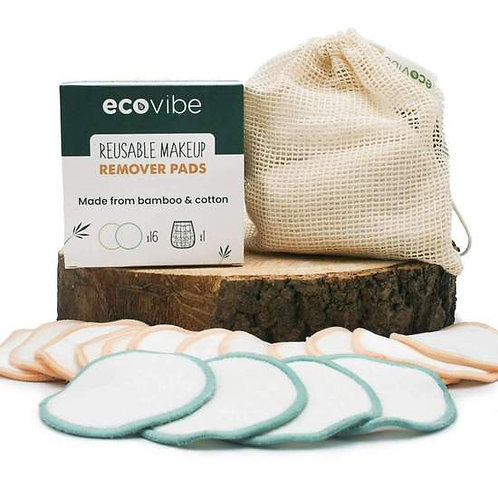 Reusable make up pads (set of 16 with wash bag) by Ecovibe