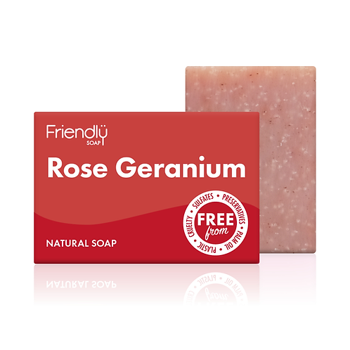 """Soap bar for face & body: """"Rose geranium"""" by Friendly Soap"""