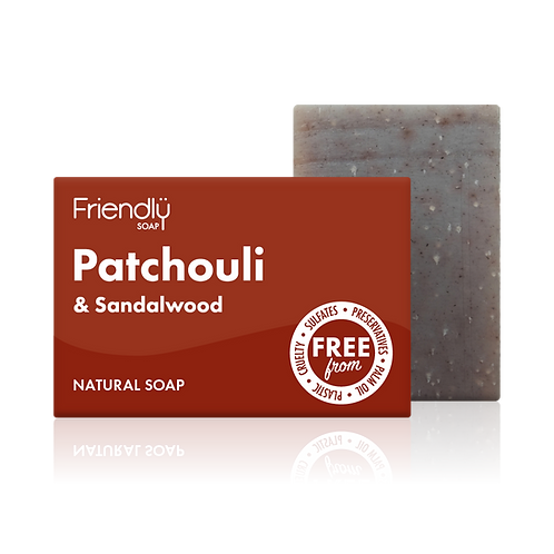 "Soap bar for face & body: ""Patchouli & sandalwood"" by Friendly Soap"