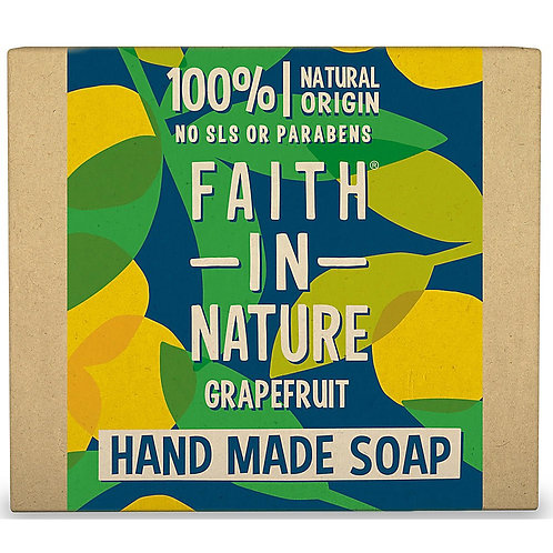 """Soap bar for face & body: """"Grapefruit"""" by Faith in Nature"""
