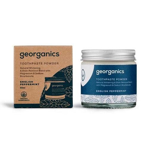 "Toothpaste powder: ""English peppermint"" by Georganics"