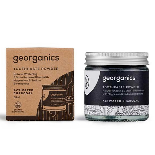 """Toothpaste powder: """"Activated charcoal"""" by Georganics"""