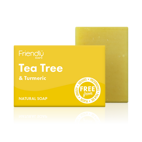 "Soap bar for face & body: ""Tea tree & turmeric"" by Friendly Soap"