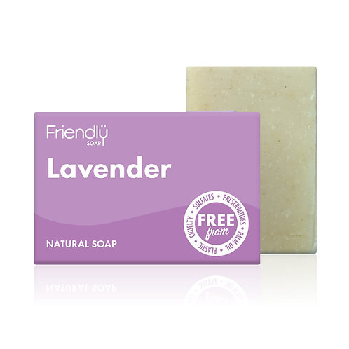 """Soap bar for face & body: """"Lavender"""" by Friendly Soap"""
