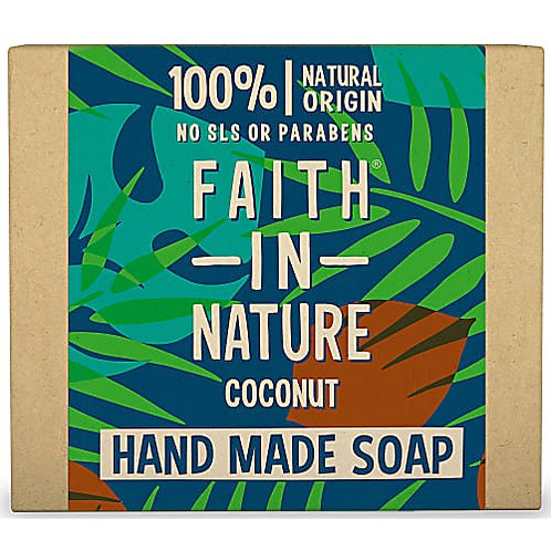 "Soap bar for face & body: ""Coconut"" by Faith in Nature"