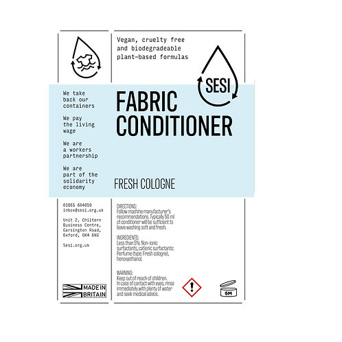 "Fabric conditioner: ""Fresh cologne"" by SESI"