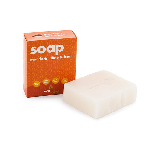 "Soap bar: ""Mandarin, lime & basil "" by Ecoliving"