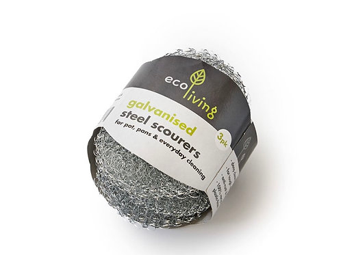 Galvanised steel scourers by Ecoliving