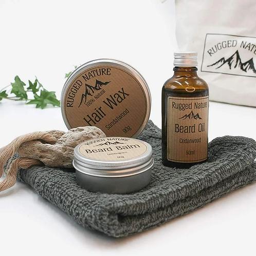 The Natural Man Wash Kit by Rugged Nature