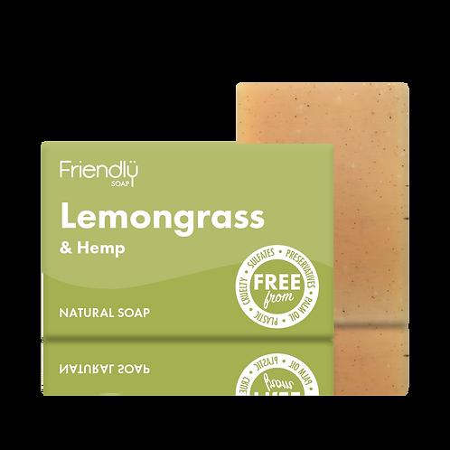 "Soap bar for face & body: ""Lemongrass & hemp"" by Friendly Soap"