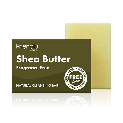 "Soap bar for face: ""Shea butter"" by Friendly Soap"