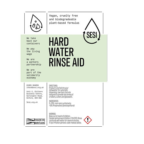 Dishwasher rinse aid for hard water: by SESI