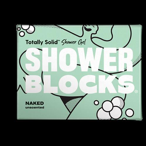 """Shower gel bar: """"Naked unscented"""" by Shower Blocks"""