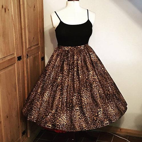 Fierce Leopard Gertie Skirt