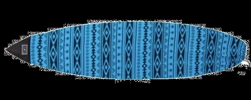 Housse Surf Chaussette Creatures Shortboard Navajo - bleu et noir, reforcement au nose de la planche