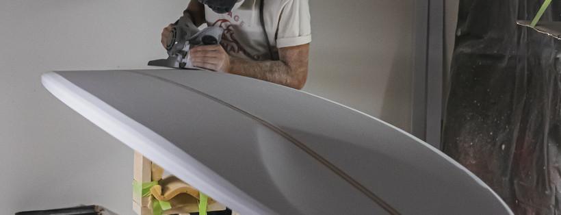 Finitions du shape du Longboard