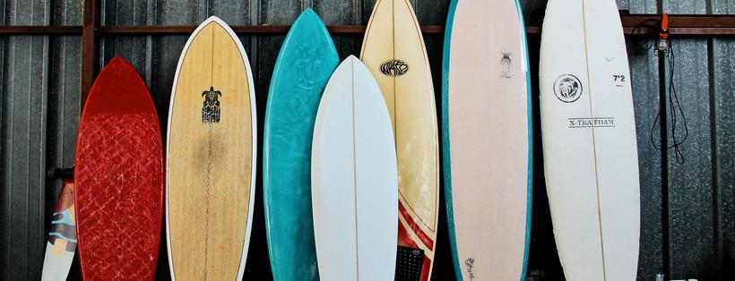 Notre petit quiver de planches de surf