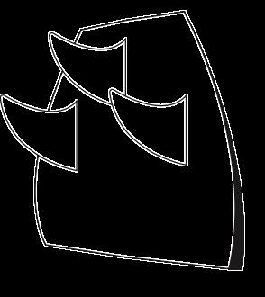 Dessin de trois dérives d'une planche de surf