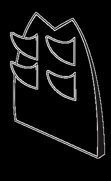 Dessin de quatre dérives d'une planche de surf