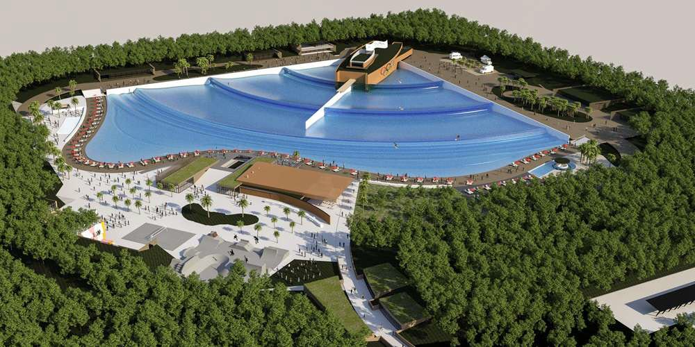Schéma d'une piscine à vagues