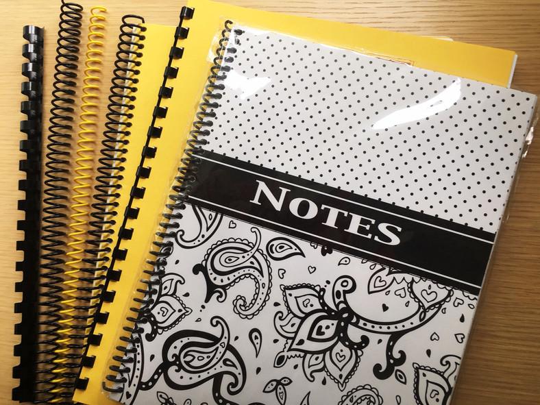 Notebook Spiral Options