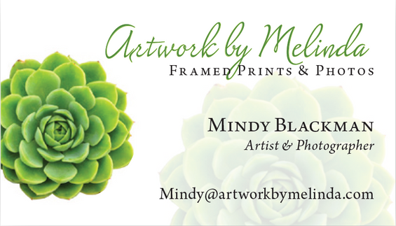 Artwork by Melinda Business Card Design