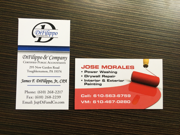 Jose Morales and DiFilippo Business Cards